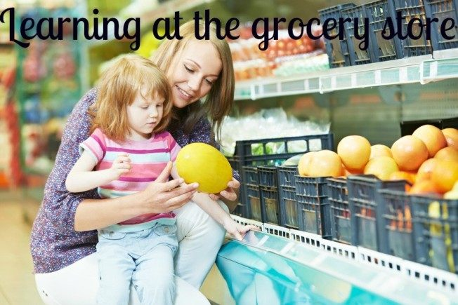 grocery store with kids