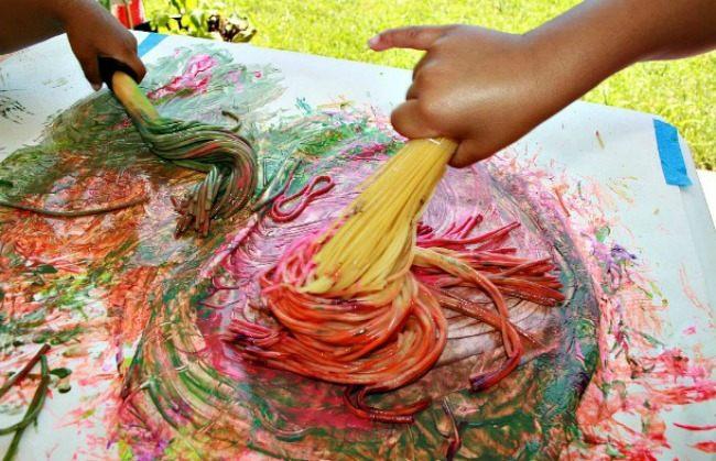 spaghetti broom painting n