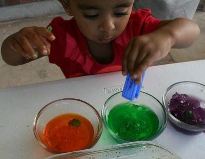 jelly sensory play for halloween