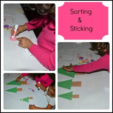 Math in Christmas activities - sorting