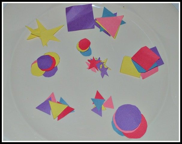 Christmas activities : shapes cut outs