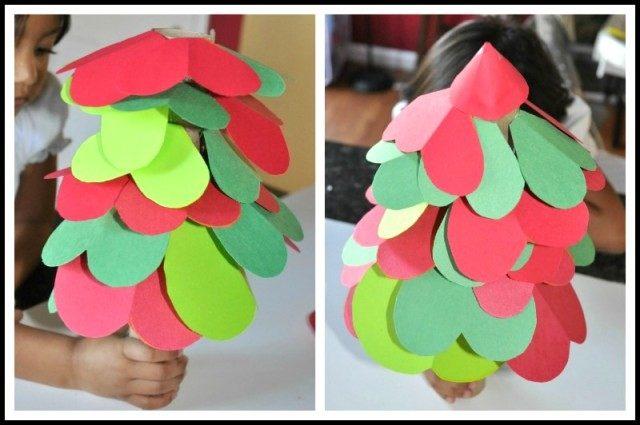 christmas crafts activity shapes tree- blogmemom