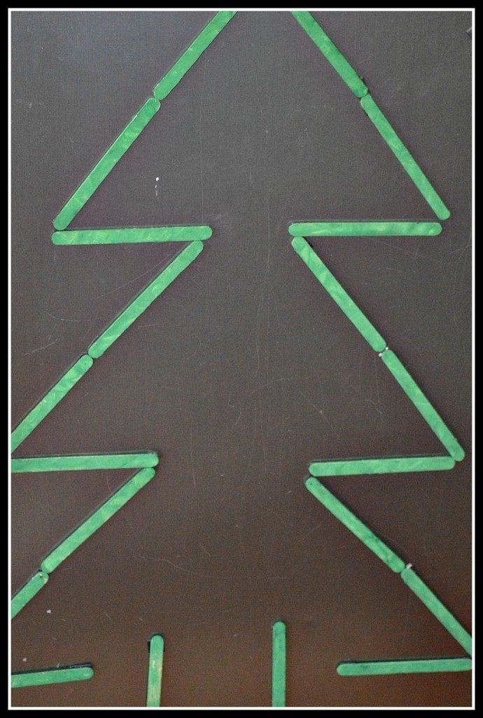 craft sticks christmas tree
