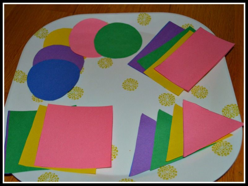 Toddler Learning Activity With Contact Paper