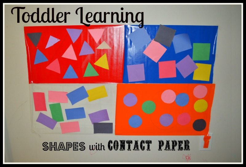 teaching toddlers shapes