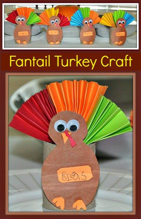 hanksgiving craft paper roll turkey