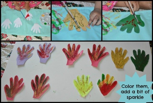 handprint crafts for christmas