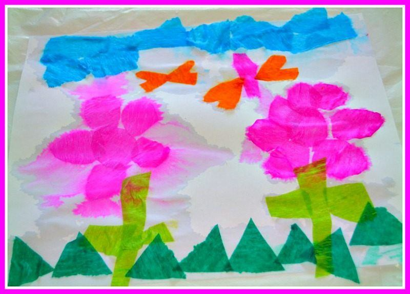 easy paper and water art project for kids
