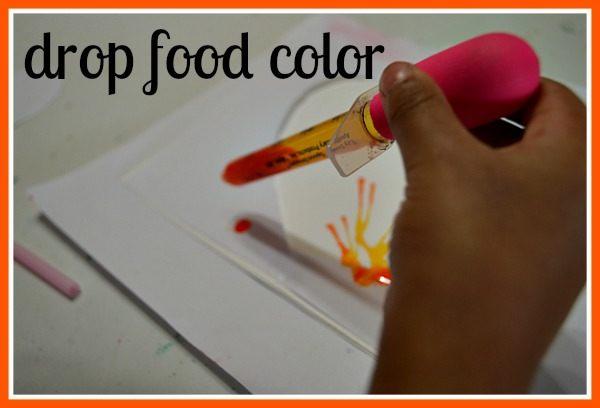 medicine dropper to drop food colors