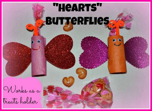 valentines day crafts for kids paper roll butterfy
