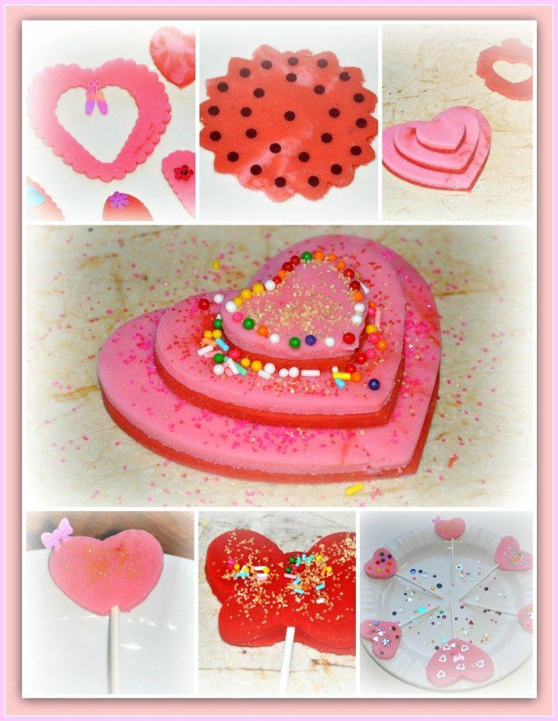 Valentines day playdough