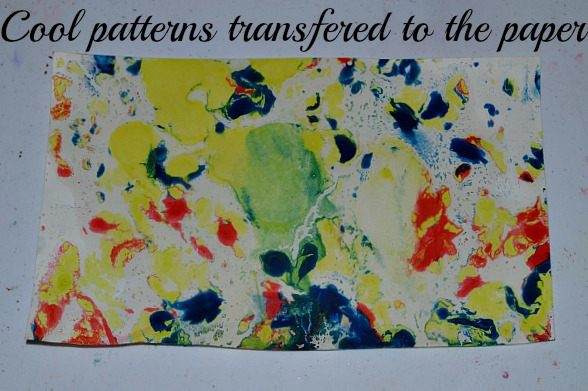 art projects for kids - oil paint patterns on paper