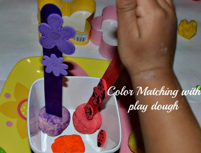 color garden with play dough in a spring craft activit