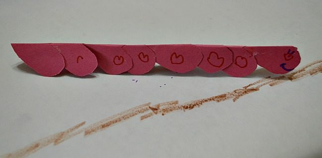 crafts for valentines with worms hearts