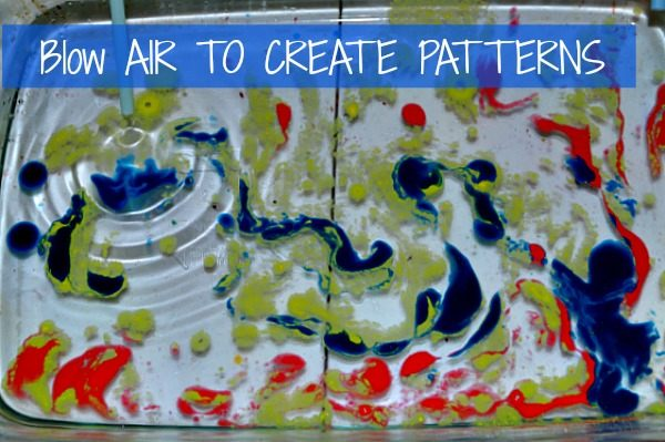 creating pattersn through air - art projects for preschool