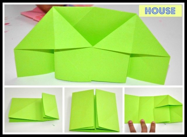How To Make An Easy Origami House - Folding Instructions - Origami ... | 467x640