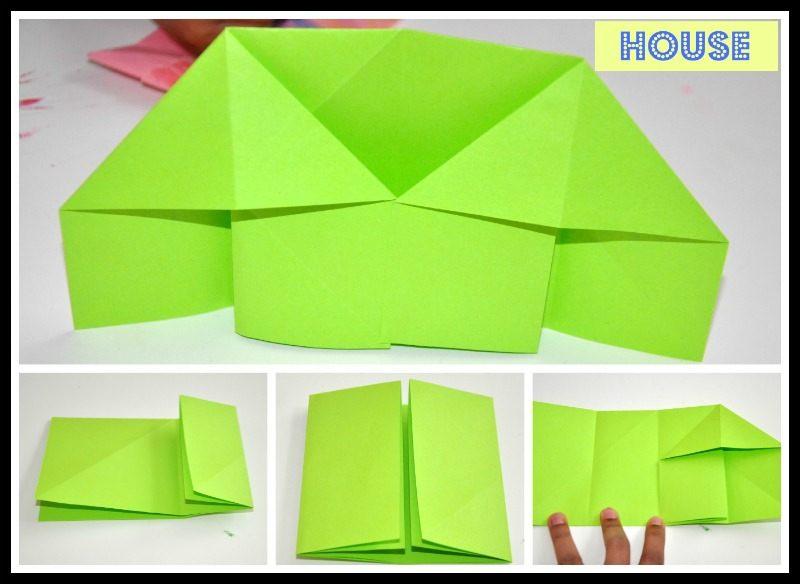 origami house | Origami diagrams, Origami paper, Cute origami | 584x800