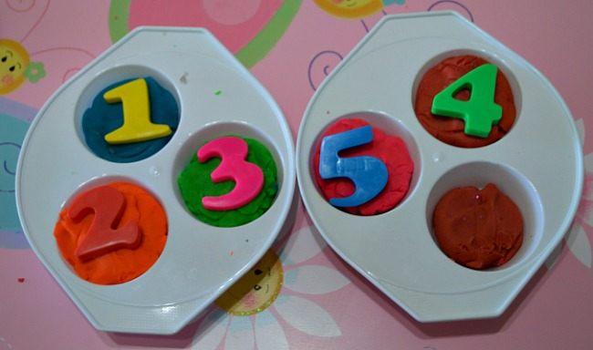 play dough for math activity