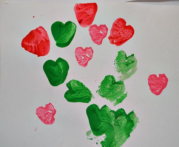 potato hearts valentine art for toddlers