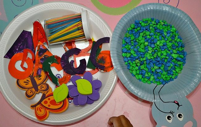 spring craft with toddler learning materials