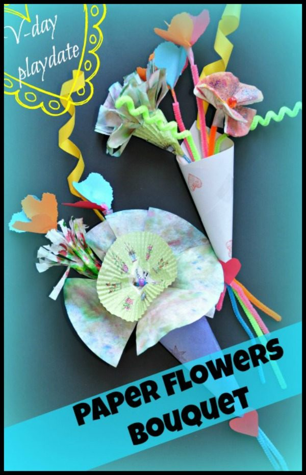 Valentine Day Craft And Activity Pretend Play Flower Shop And Paper