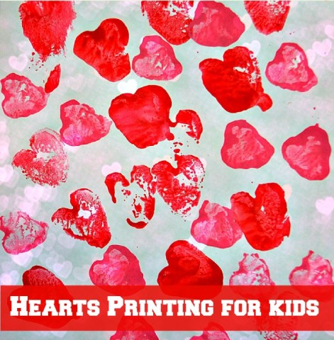Valentine Art With Potato Prints Fun Littles