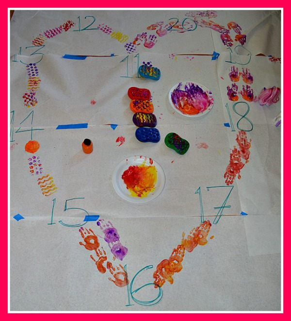 valentine's day fun with painting heart
