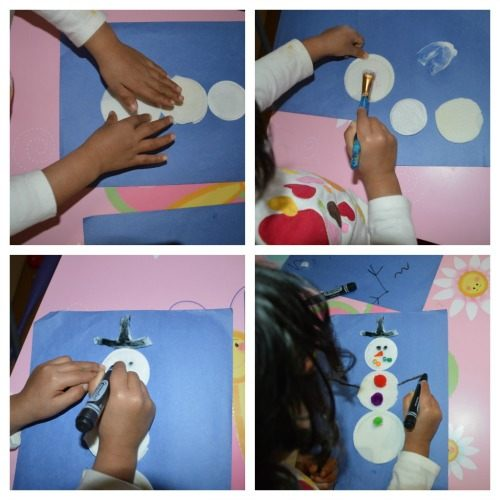 winter craft with snowman