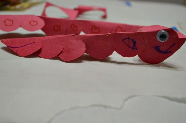 worm craft for valentines