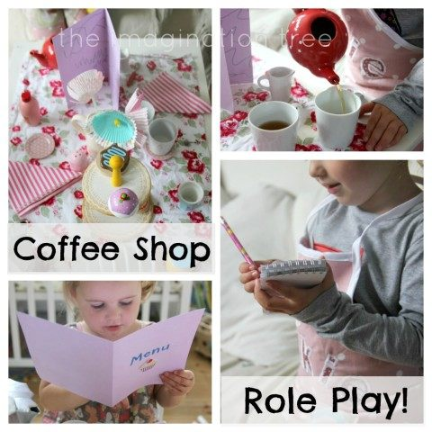 Cafe role play collage text