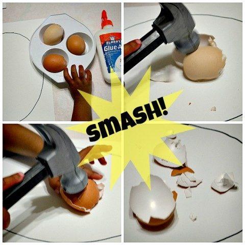 egg break easter craft