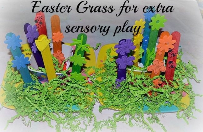 Spring craft color garden using craft sticks