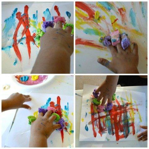 art projects kids sponge painting