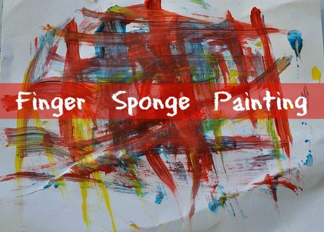 blogmemom sponger finger painting