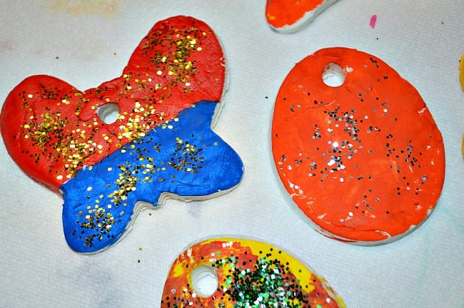 colored easter ornaments crafts