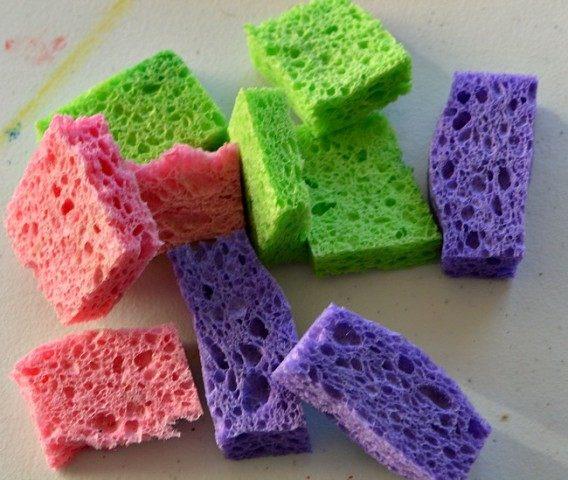 cutup kitchen sponges