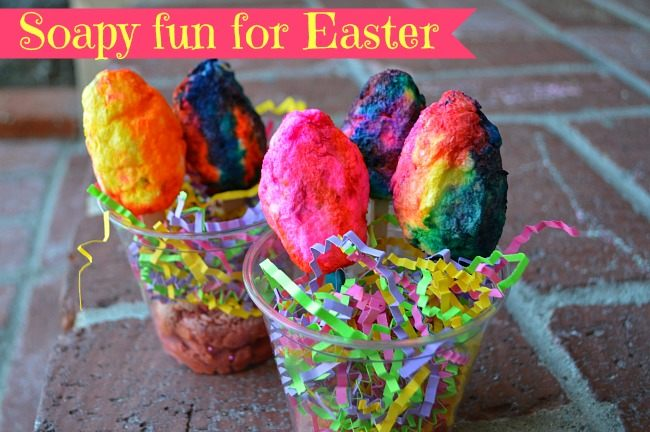 easter activities for kids with soap eggs
