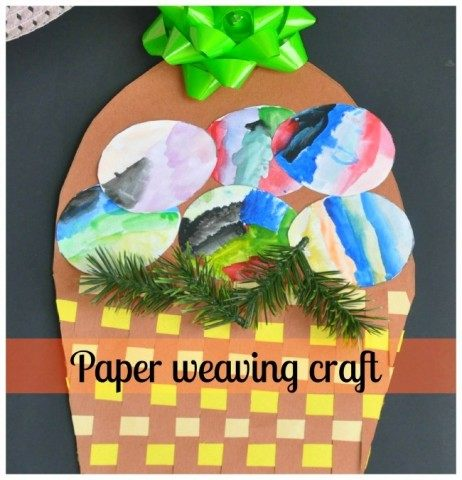 easter craft paper weaving