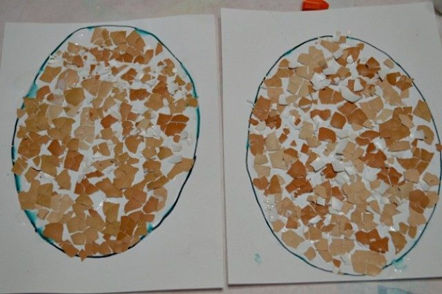 Easter Craft :Egg Shell Painting