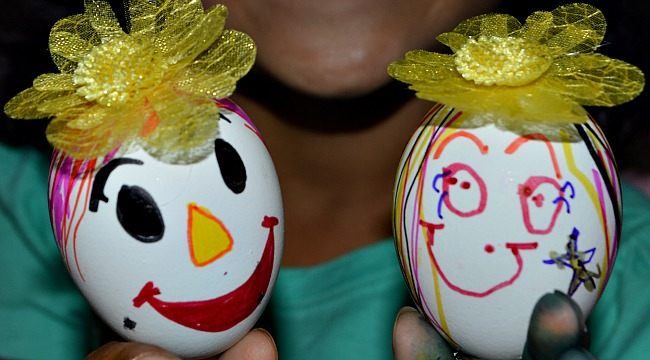 egg shell puppets fine motor activity