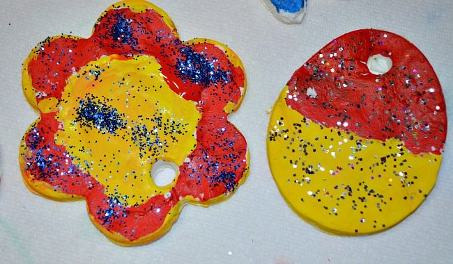 lower easter crafts with cornstarch clay