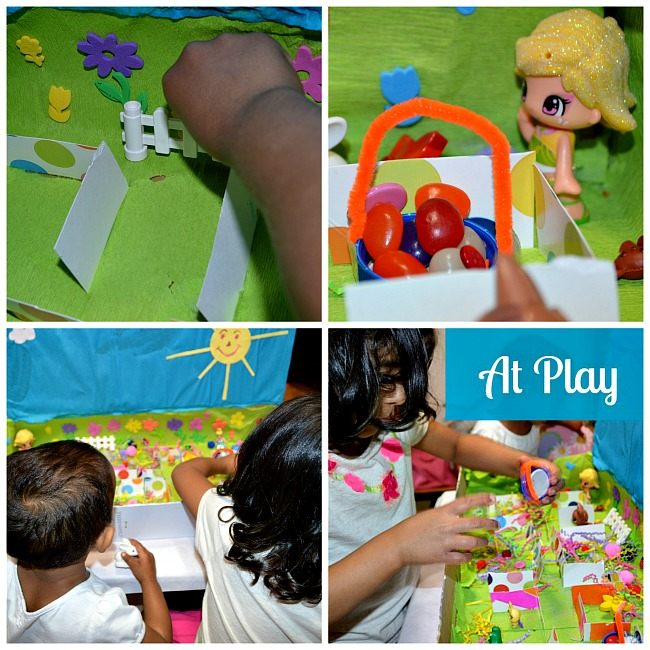kids playing easter small world