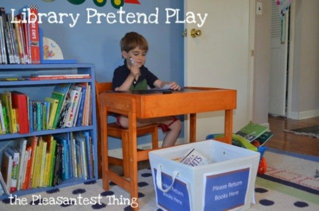 library pretend play