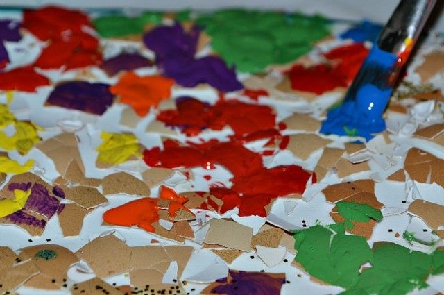 paint shells for easter craft