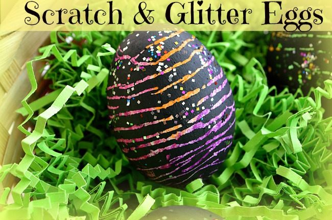 scratch eggs for easter kids