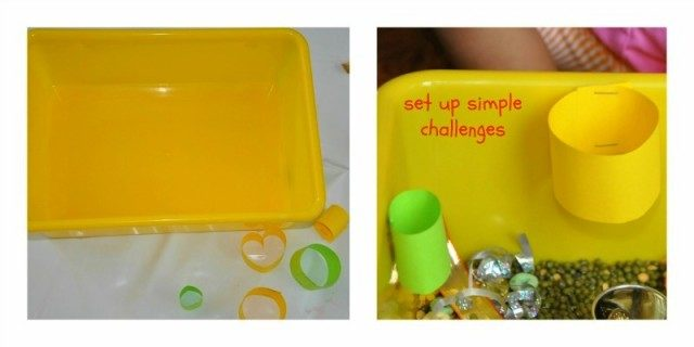 sensory bin - set up