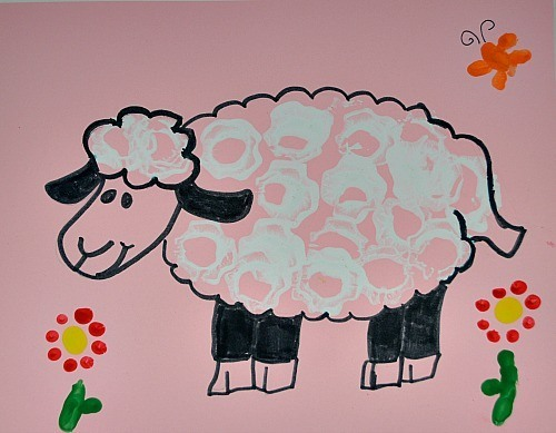 Spring Art Egg Carton Sheep Fun Littles