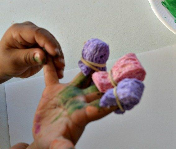 sponges on fingers