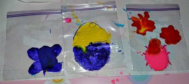 spring crafts homemade window clings