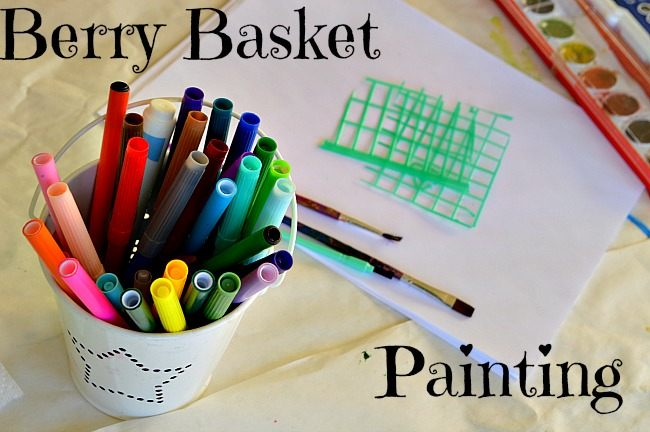 art activities for kids with berry baskets